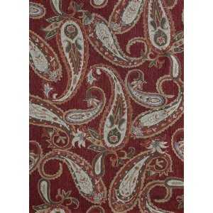 "Hand Hooked Chinese ""Francesca Collection"" Red Rug"