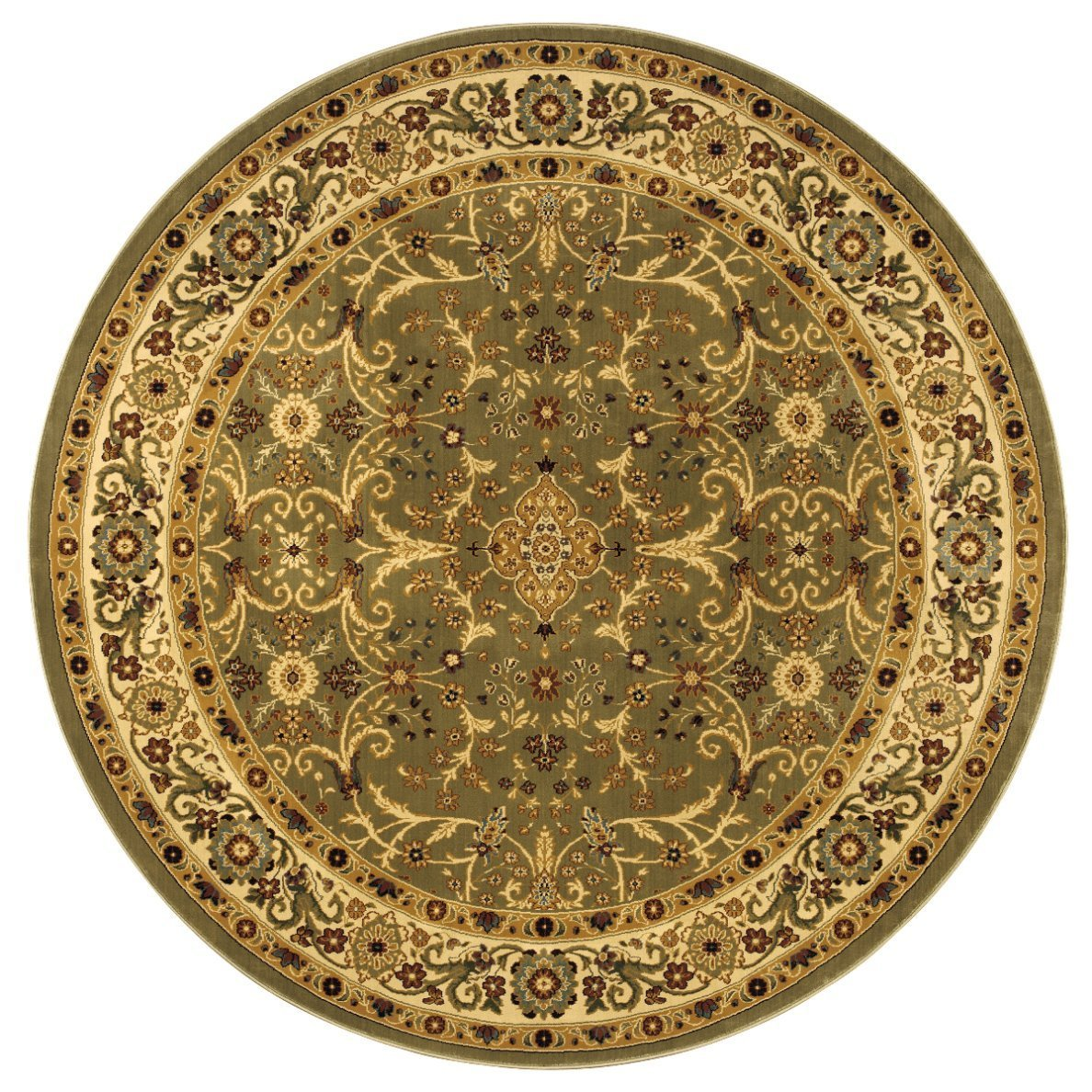 8-Foot 4-Inch Round Rug in Garden Fantasy Pattern