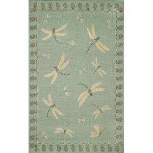 Trans Ocean Outdoor Dragonfly Area Rug
