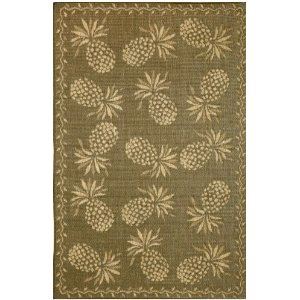 Trans-Ocean Pineapple Area Rug