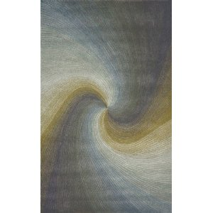 Wool Hand Tufted Area Rug Waves 5' x 8' Carpet